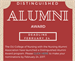 Distinguished Alumni Award Nominations Open
