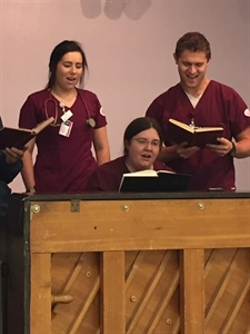 OU Nursing Student Volunteers Musical Talent for Senior Center